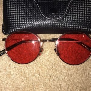 Red around Sunglasses